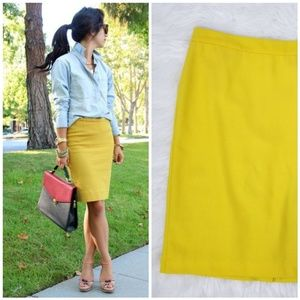 Cabi #992 Pencil Skirt Mustart Yellow 2